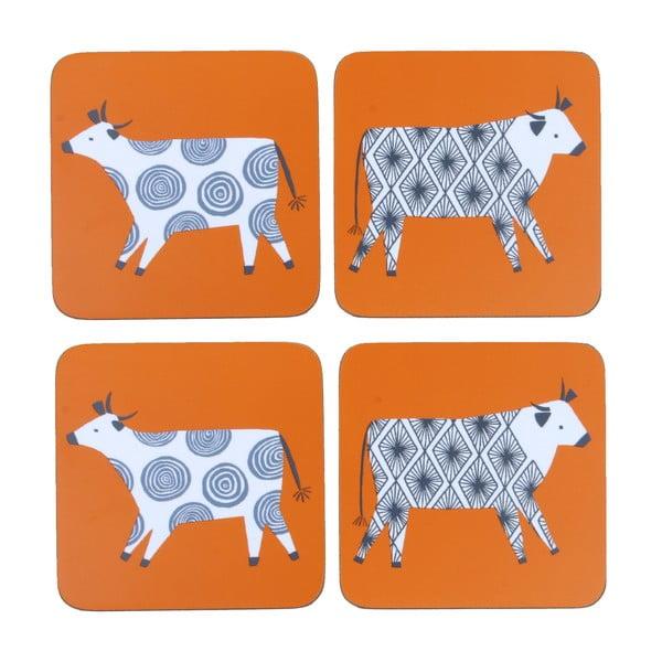 Zestaw 4 podstawek Curious Cows