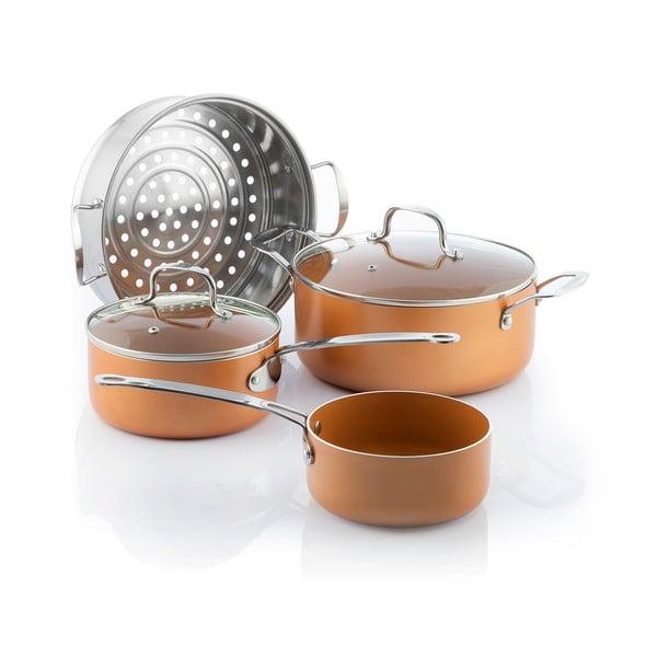 Komplet z wkładką do gotowania na parze InnovaGoods Copper-Effect