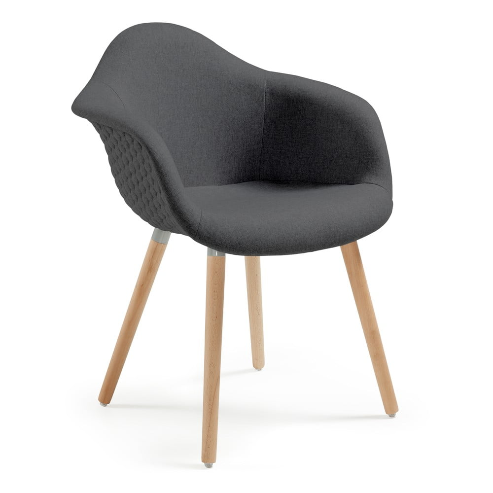 Ciemnoszary fotel La Forma Kenna