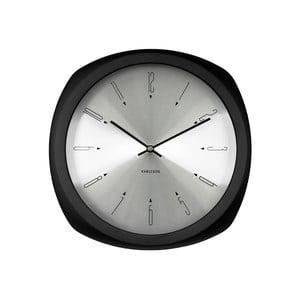Czarny zegar ścienny Present Time Aesthetic Square