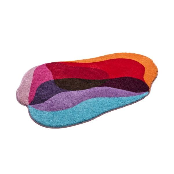 Dywanik łazienkowy Kolor My World XXI 90x130 cm, czerwono-niebieski