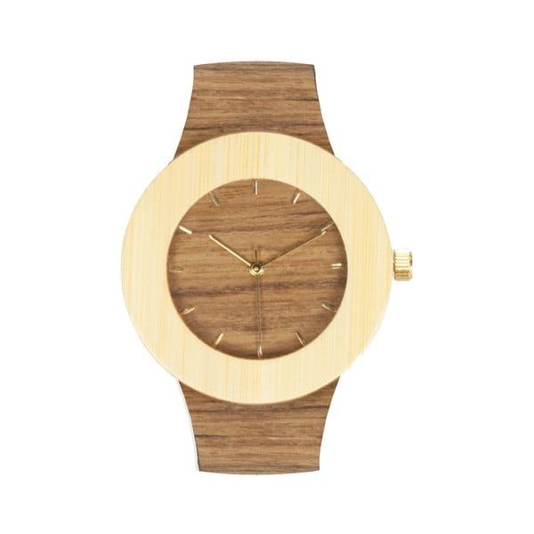 Drewniany zegarek z zaznaczonymi godzinami (kreski) Analog Watch Co. Teak & Bamboo