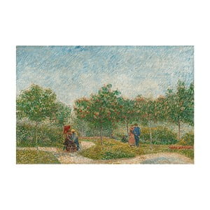 Reprodukcja obrazu Vincenta van Gogha - Garden with Courting Couples- Square Saint-Pierre, 60x40 cm