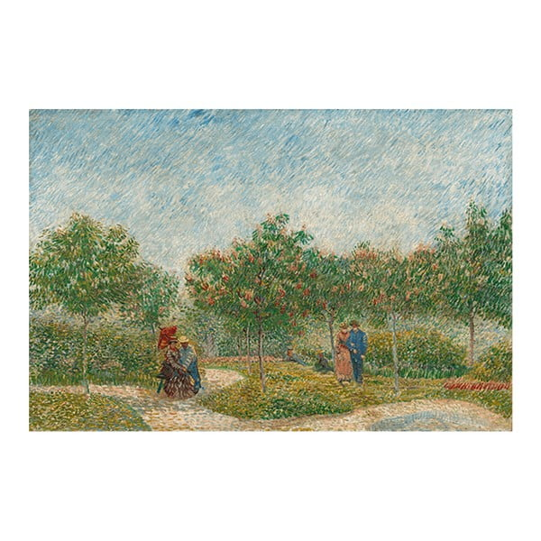 Obraz Vincenta van Gogha - Garden with Courting Couples- Square Saint-Pierre, 60x40 cm