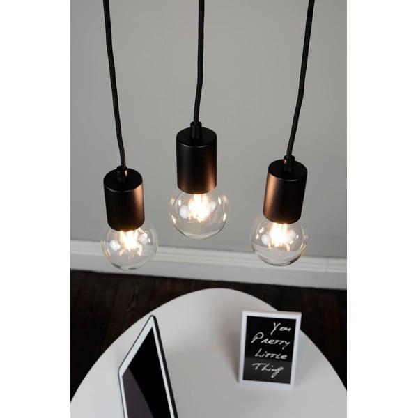Czarna potrójna lampa wisząca Bulb Attack Cero Basic
