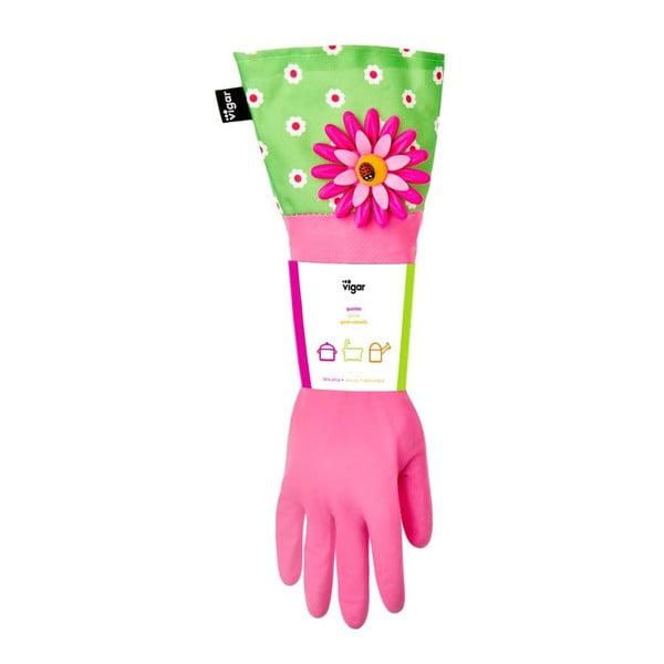 Rękawice do zmywania Vigar Pink Flower