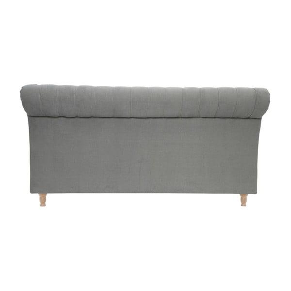 Jasnoszare łóżko z naturalnymi nóżkami Vivonita Allon, 140x200 cm