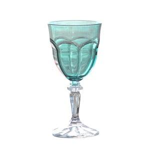 Zestaw 6 niebieskich kieliszków do wina z tworzywa sztucznego Sunvibes Happy, 250 ml