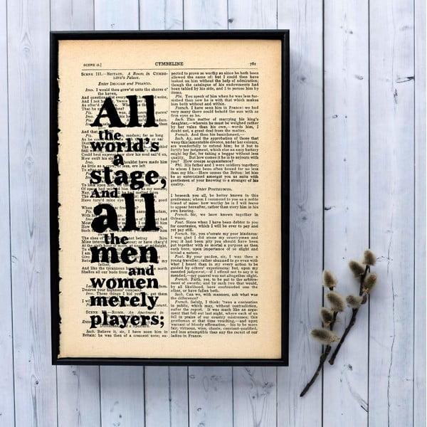 Plakat w drewnianej ramie Shakespeare Stage