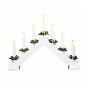 Biały świecznik drewniany LED Markslöjd Ola