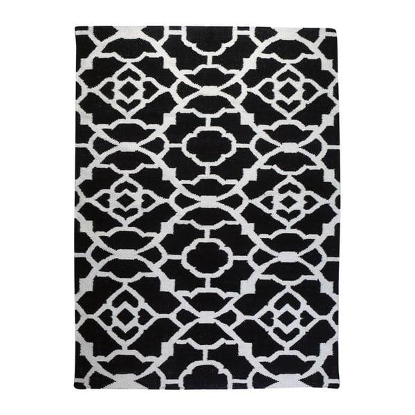 Dywan wełniany Geometry Vintage Black & White, 160x230 cm
