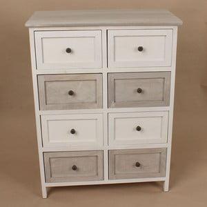 Drewniana komoda White and Grey, 58x76 cm
