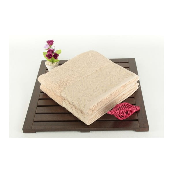 Zestaw 2 ręczników Kalp Brown, 50x90 cm