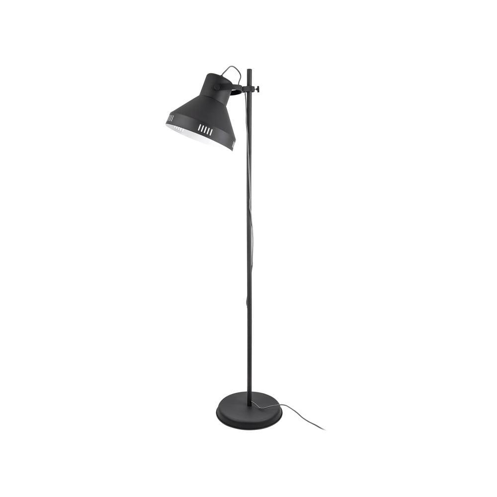 Czarna lampa stojąca Leitmotiv Tuned Iron,wys.180cm
