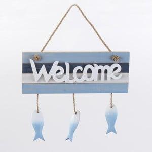 Dekoracja ścienna Welcome, niebieska