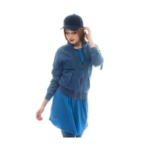 Bawełniana bluza barwiona indygo Lull Loungewear Zipper, rozm.S