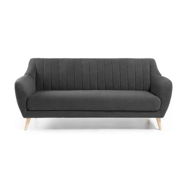 Ciemnoszara sofa trzyosobowa La Forma Off