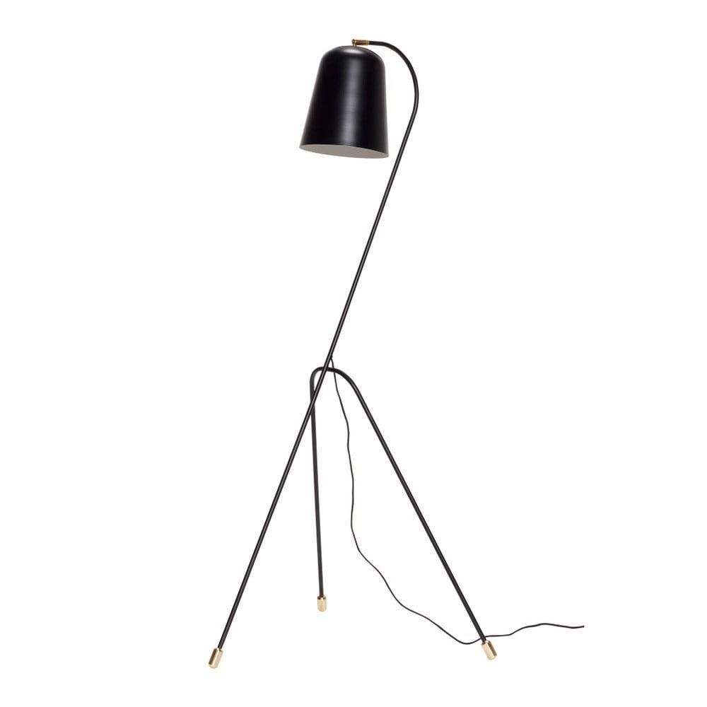 Czarna lampa stojąca Hübsch Floor Lamp, wys. 156 cm