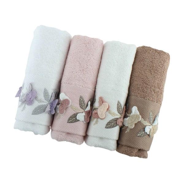 Komplet 4 ręczników Sarmasik, 50x90 cm