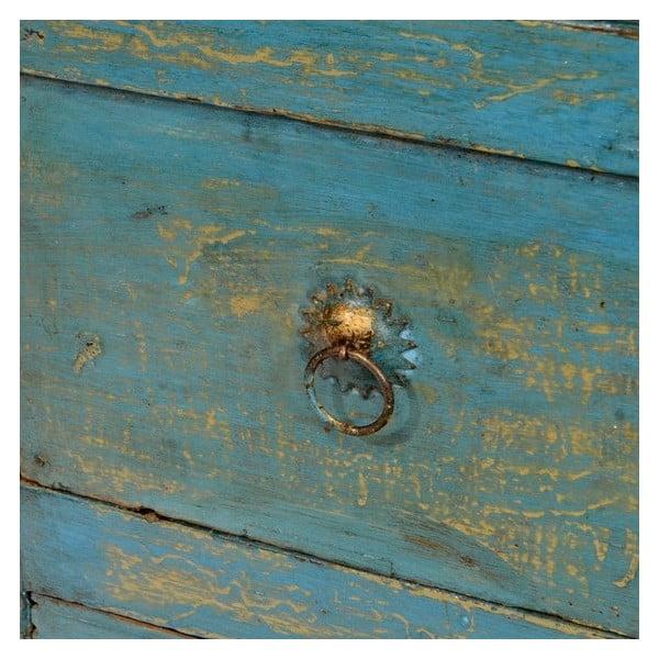 Komoda drewniana Goa, niebieska