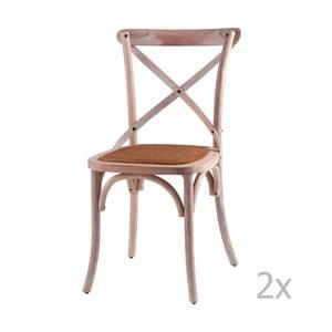 Zestaw 2 krzeseł drewnianych sømcasa Ariana