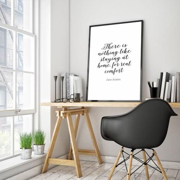 Plakat w drewnianej ramie Real comfort, 38x28 cm