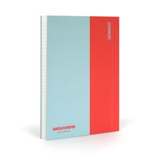 Notes FANTASTICPAPER A5 Skyblue/Warm Red, w linie