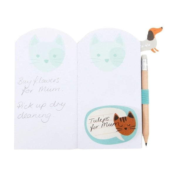 Notesik Busy B Cat z ołówkiem