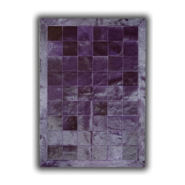 Dywan skórzany Plain Violet, 140x200 cm
