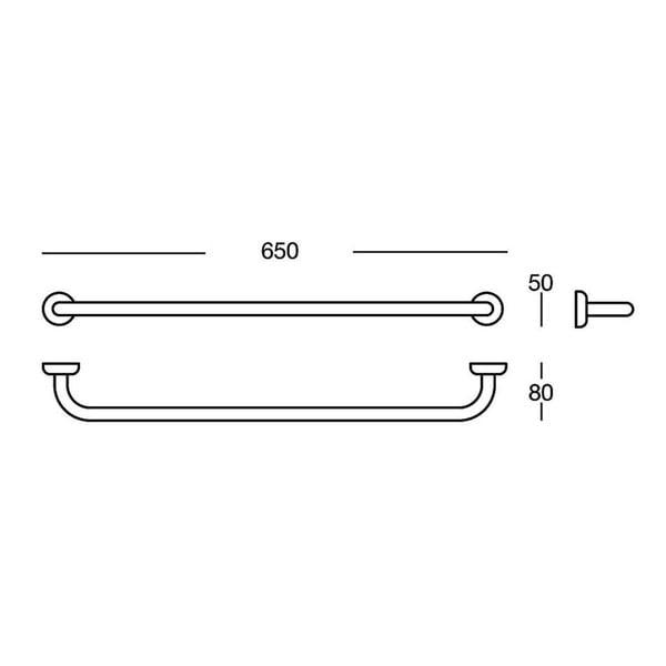 Uchwyt na ręczniki Polished Brass, 65x5x8 cm