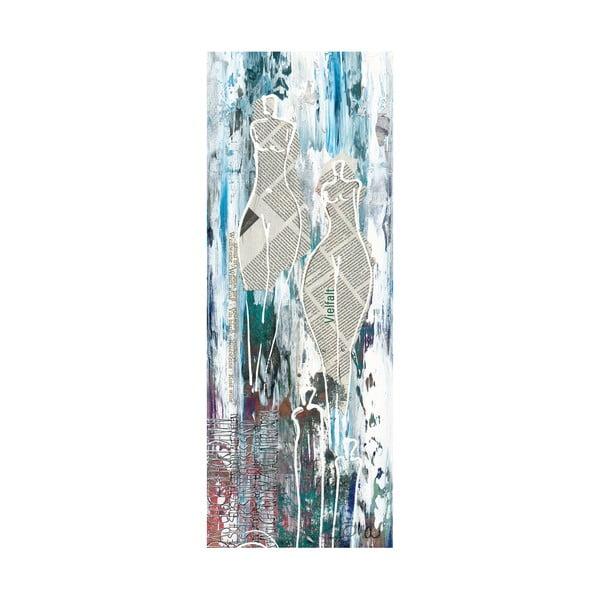 Obraz na płótnie Paper Ladies 30x80 cm