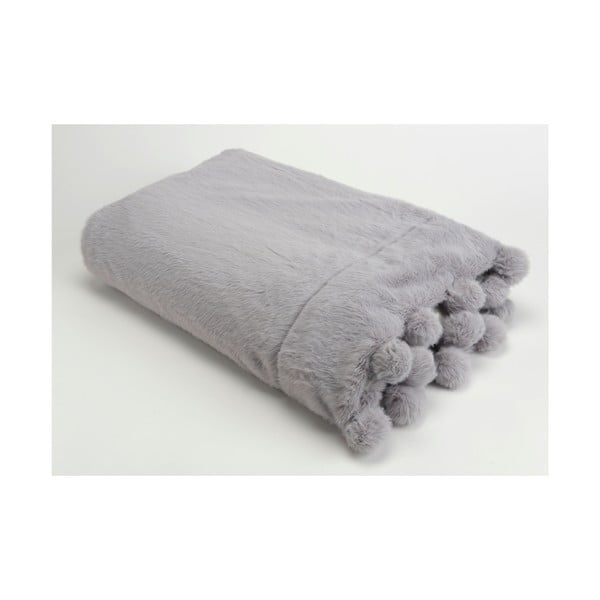 Koc Pompon Grey, 130x170 cm