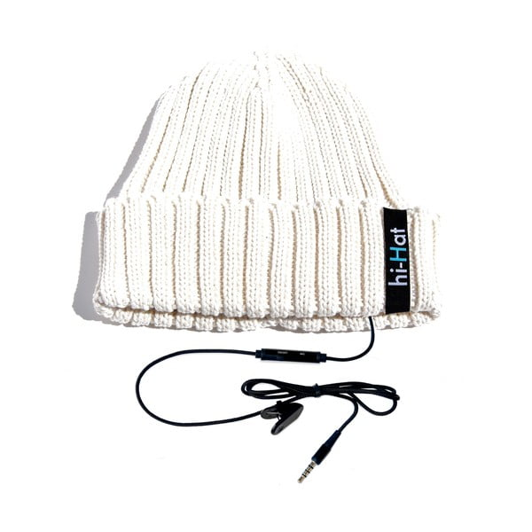 Czapka Hi-Hat ze słuchawkami, biała