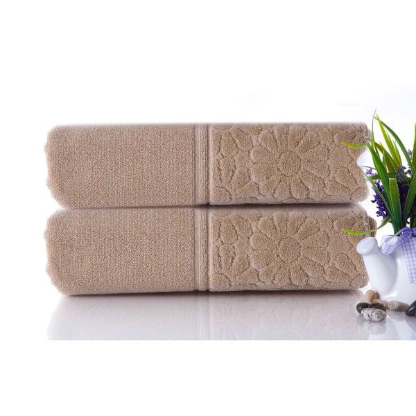 Zestaw 2 ręczników Samba Beige, 50x90 cm