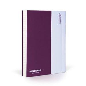 Notes FANTASTICPAPER A6 Aubergine/White, w linie