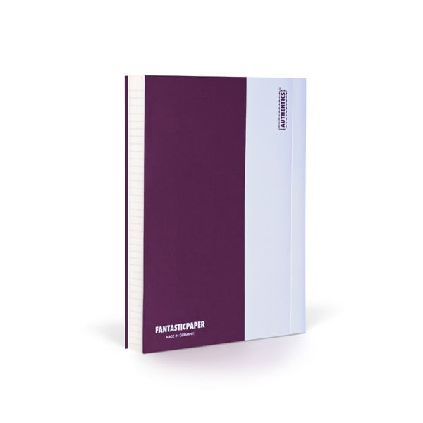 Notes FANTASTICPAPER A6 Aubergine/White, w linie