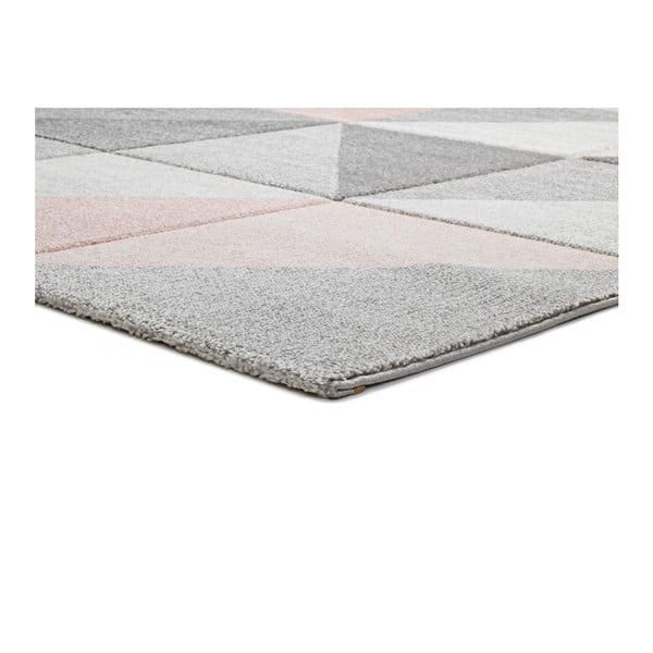 Różowo-szary dywan Universal Retudo Naia, 140x200 cm