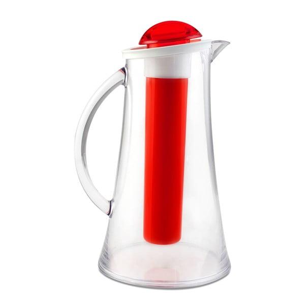 Czerwony dzbanek Vialli Design Livio, 2,1 l