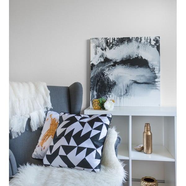 Obraz Black and White Fluid, 70x70 cm