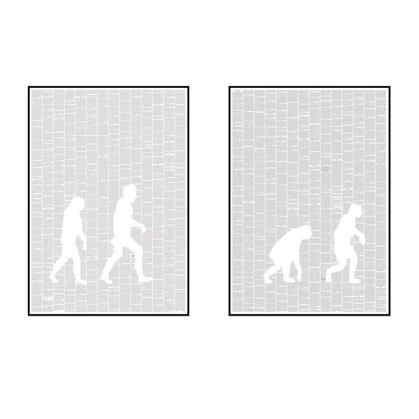 """Zestaw 2 plakatów """"O powstawaniu gatunków"""", 70x100 cm"""