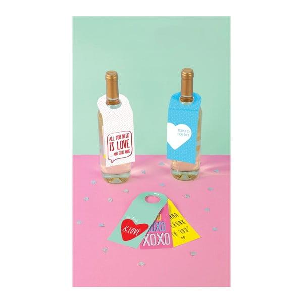 Zestaw 10 zawieszek na wino Love Winetags