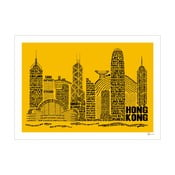 Plakat Hong Kong Yellow&Black, 50x70 cm