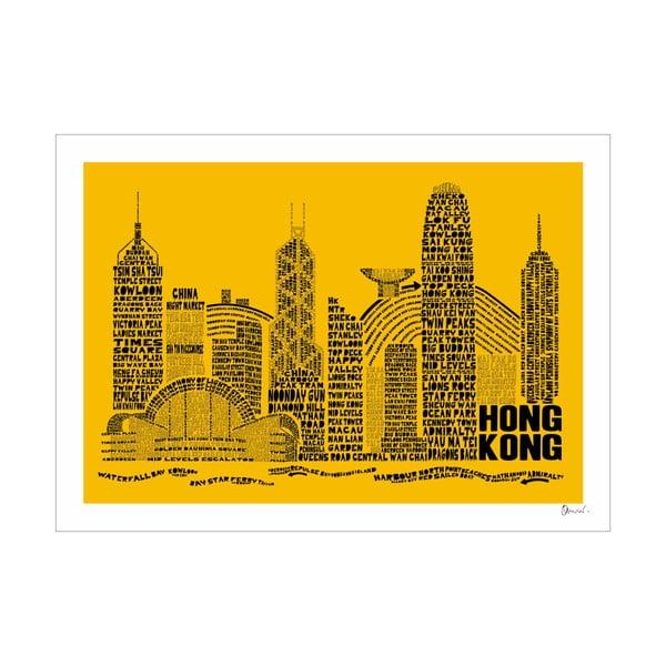 Plakat Hong Kong Yellow&Black, 50x70 cm