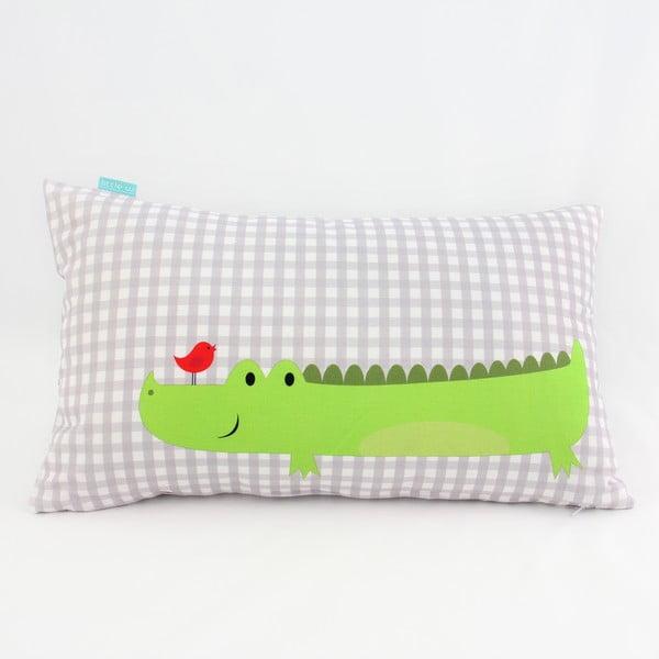 Dwustronna poszewka bawełniana na poduszkę Mr. Fox Hippo, 50x30 cm