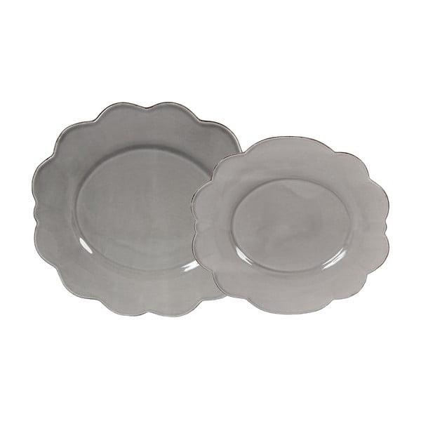 Zestaw 4 talerzyków deserowych Grey Petale