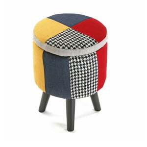 Taboret Patchwork Solid
