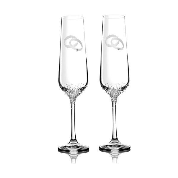 Zestaw 2 kieliszków do szampana Mania ze Swarovski Elements w eleganckim opakowaniu