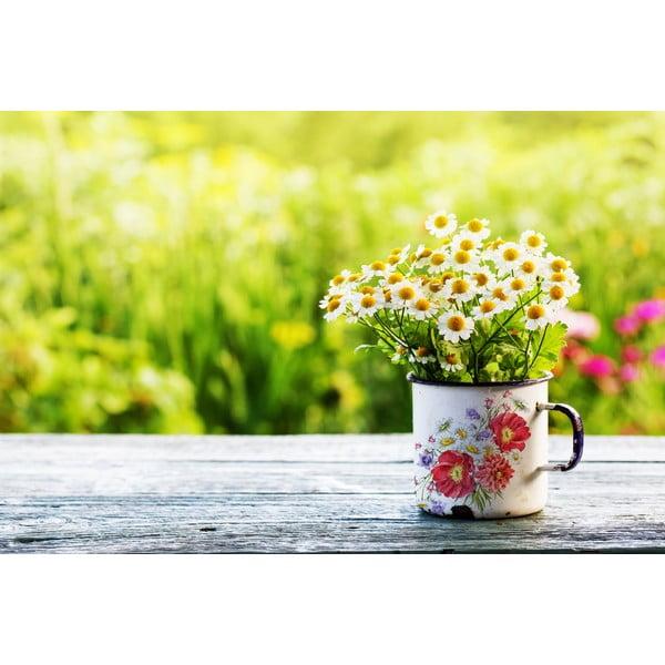 Kubek emaliowany w kwiaty TinMan, 200 ml