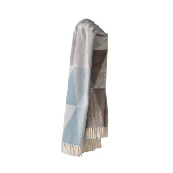 Niebiesko-szary koc Euromant Pisa, 140x180 cm