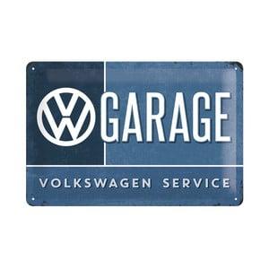 Blaszana tabliczka VW Garage, 20x30 cm